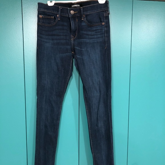 Express Jeans Size 2L mid rise skinny stretch